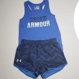 Girls UA athletic outfit